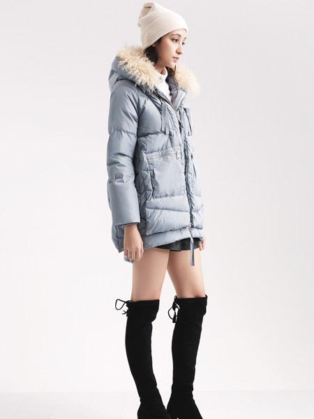 阿莱贝琳女装品牌2019秋冬加厚羽绒服外套