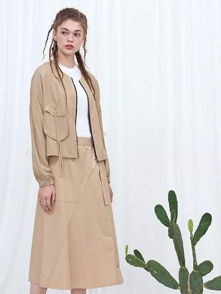 YES、NONO、be.女装品牌2019秋冬卡其色个性夹克