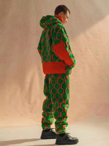 BUHO国际品牌品牌2019秋冬加绒棉服套装