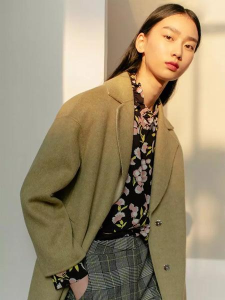 曼娅奴女装品牌2019秋冬保暖毛呢大衣