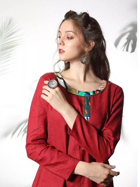 禾文阿思/印巴文化女装品牌2019秋冬棉麻上衣