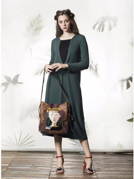 禾文阿思/印巴文化女装品牌2019秋冬羊毛衫外套