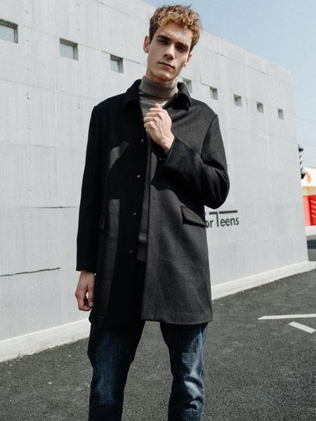 HS男装男装品牌2019秋冬毛呢外套