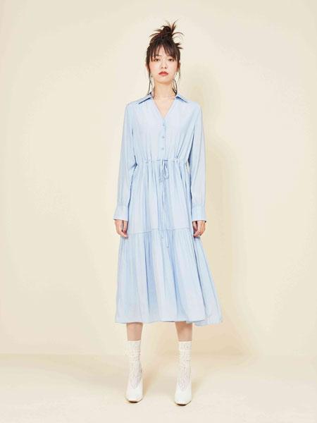 gcrues女装品牌2019秋冬衬衫连衣裙