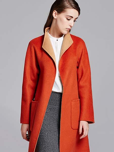 吉妮女装品牌直筒双面羊毛大衣时尚修身中长款通勤大衣女