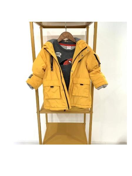 上海知名品牌童装 迪士尼 纯男童冬款羽绒服棉服外套走份批发