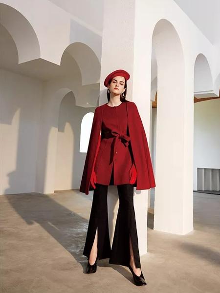 红凯贝尔女装品牌2019秋冬轻奢复古西装阔腿裤两件套