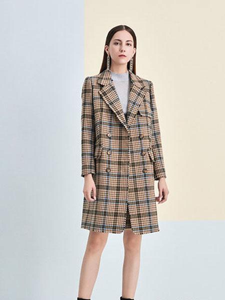 澳莉丝女装品牌2019秋冬毛呢大衣