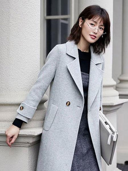 布芮祺女装品牌2019秋冬时尚毛呢外套