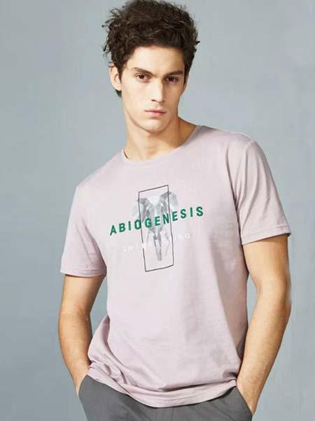 男依邦男装品牌2019春夏休闲大众短袖T恤BTBW56186A-S12