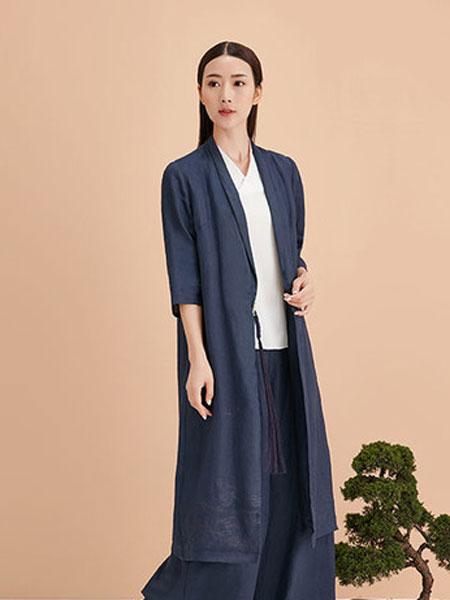水墨生香女装品牌2019秋冬素色开衫外套