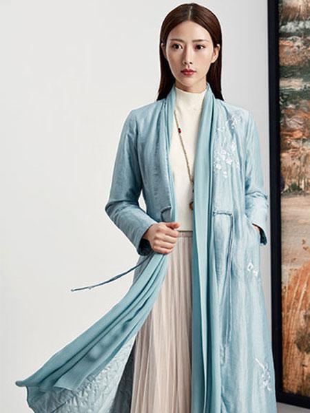 水墨生香女装品牌2019秋冬古风丝绸外套