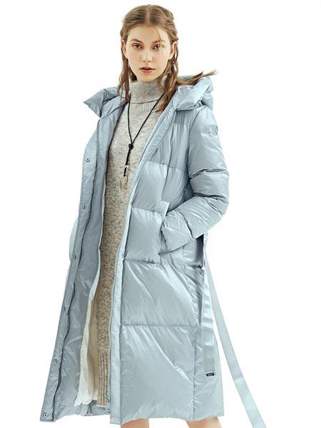 丽迪莎女装品牌2019秋冬轻薄保暖羽绒服