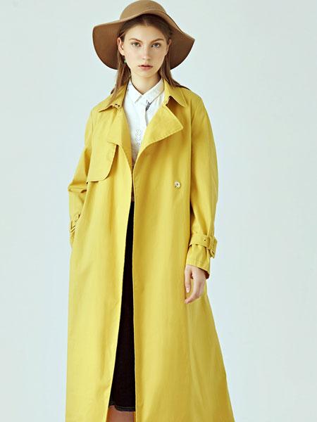 丽迪莎女装品牌2019秋冬时尚长款风衣外套