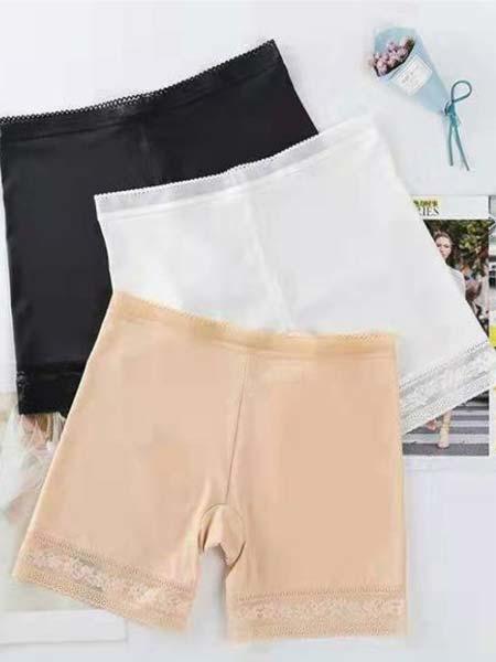 天使丽人内衣品牌2019秋季纯棉裆大码白色性感蕾丝薄款无痕打底平角裤