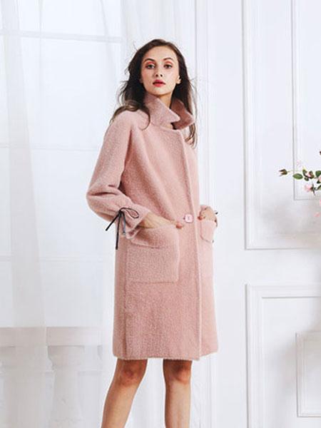欧禾女装品牌2019秋冬时尚毛呢外套