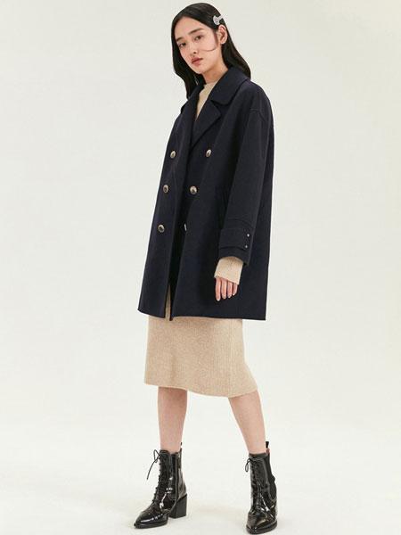 DoubleLove女装品牌2019秋冬时尚毛呢外套