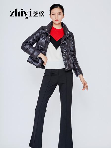 芝仪女装品牌2019秋冬百搭保暖舒适中长款羽绒服外套
