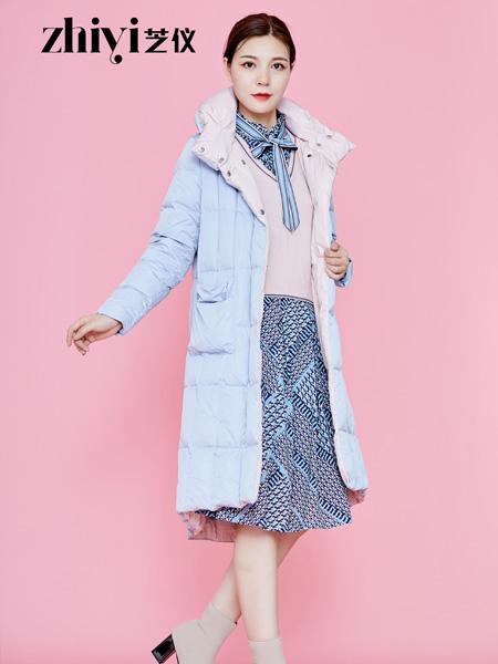芝仪女装品牌2019秋冬加绒加厚菱形格中长款外套