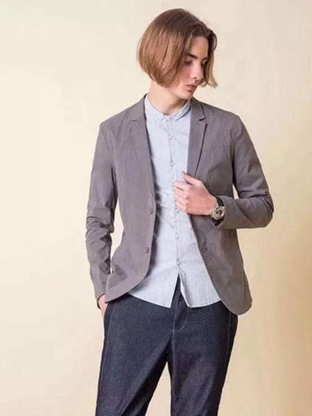 一泽男装品牌2019秋季修身男装西服青年时尚都市