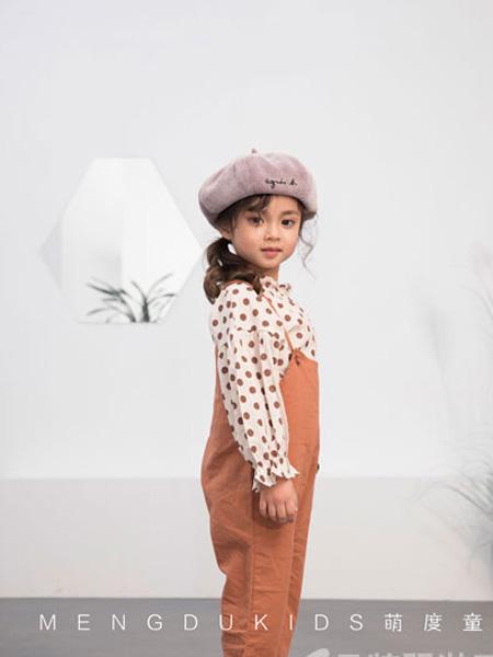 萌度童装品牌2019春季童裙两色棉布背带裙女童宝宝花边背带裤