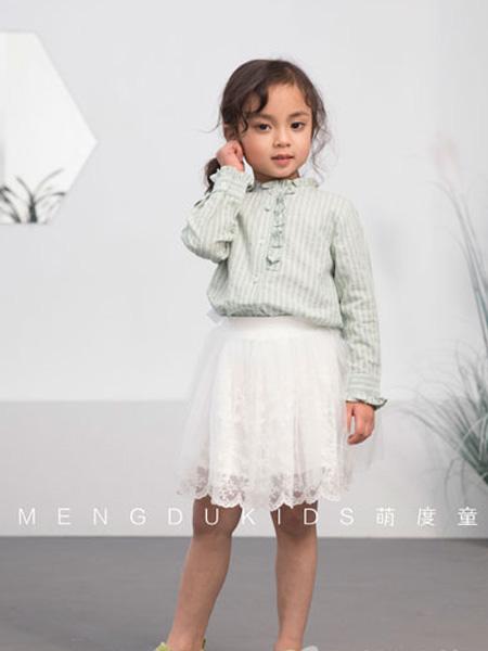 萌度童装品牌2019春季公主娃娃衫5洋气长袖上衣女童衬衣3岁