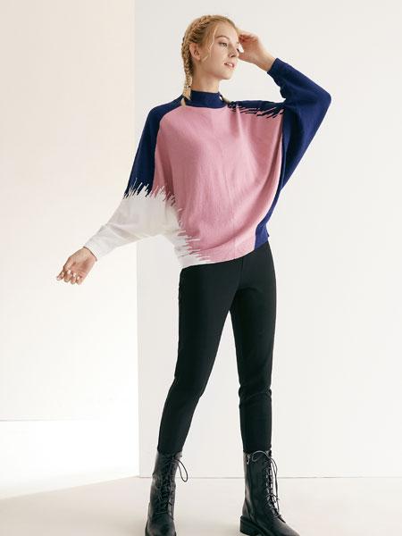 可之馨女装品牌2019秋冬中领羊毛衫套头衫