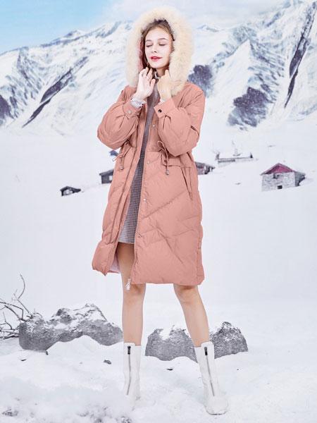 春美多女装品牌2019秋冬时尚轻薄羽绒服