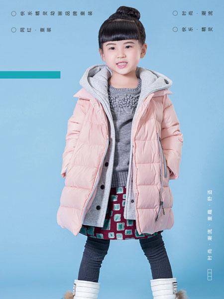 快乐精灵童装品牌2019秋冬加绒保暖羽绒服