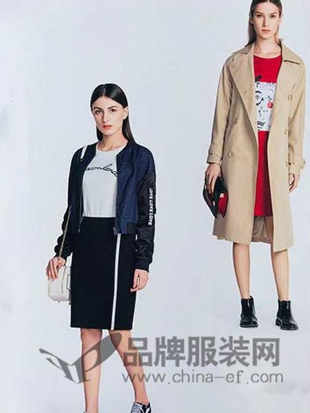 你即永恒女装品牌2019秋冬中长款风衣纯色外套193121