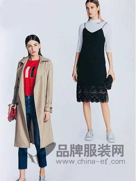 你即永恒女装品牌2019秋冬吊带蕾丝连衣裙20010417