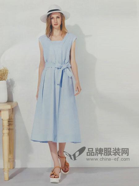 你即永恒女装品牌2019春夏长款修身连衣裙