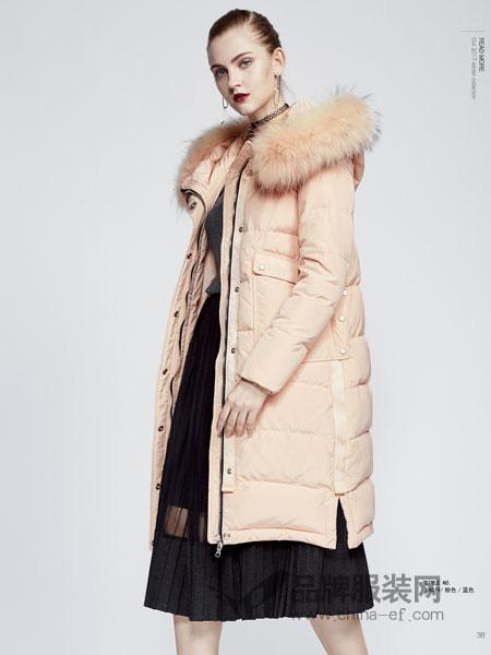 你即永恒女装品牌2019秋冬休闲帽版修身棉衣防寒保暖棉服