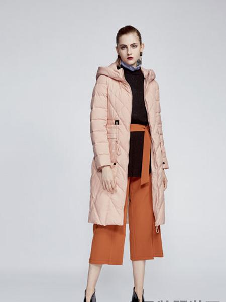 你即永恒女装品牌2019秋冬时尚连帽加厚棉袄过膝棉衣外套