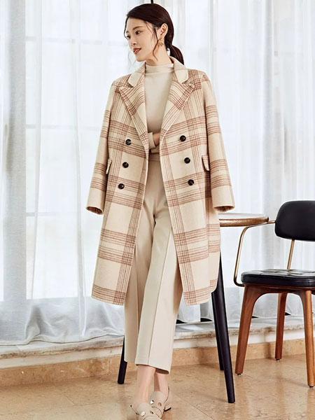秋之恋女装品牌2019秋冬时尚气质毛呢大衣