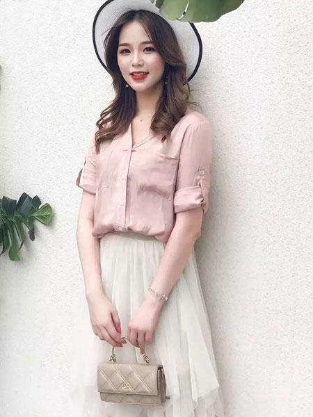 葵后服饰cc+di charme女装品牌2019秋冬纯色衬衣