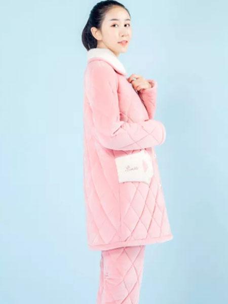 女人心内衣品牌2019秋冬加绒睡衣套装
