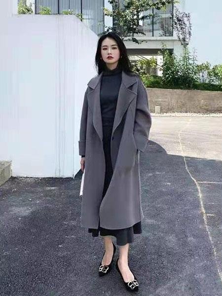 芝麻e柜女装品牌2019秋冬时尚毛呢大衣