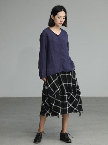 肆都女装品牌2019秋冬棉麻气质上衣