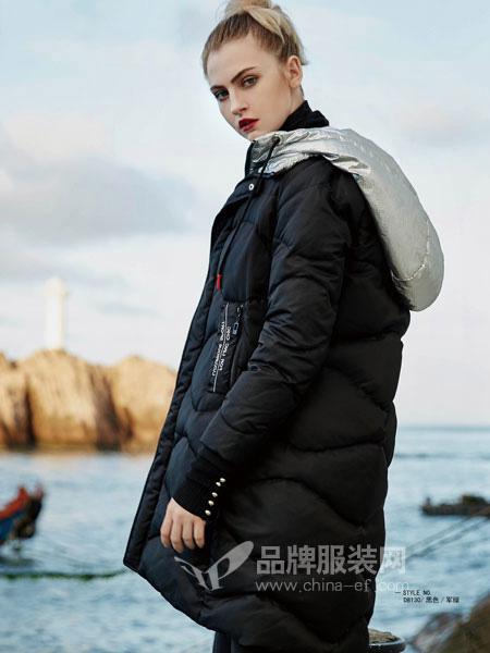 你即永恒女装品牌2019秋冬时尚羽绒服女中长款