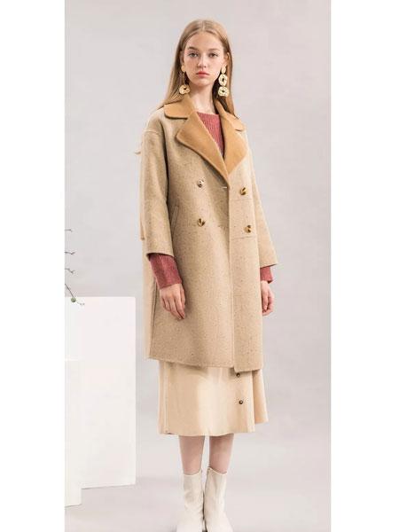 sanfan三番女装品牌2019秋冬时尚毛呢外套