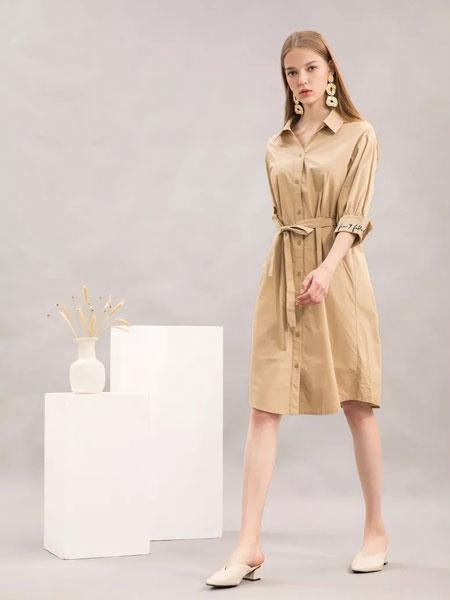 sanfan三番女装品牌2019秋冬时尚气质风衣
