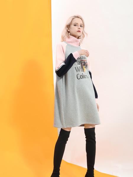 SASLAX莎斯莱思女装品牌2019秋冬套头显瘦卫衣