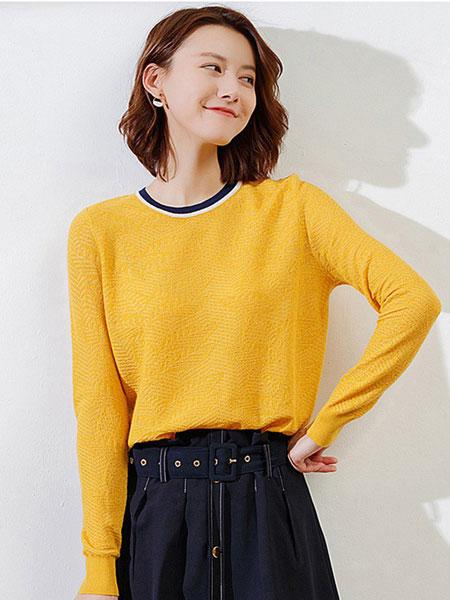 洛薇雅女装品牌2019秋冬羊毛衫套头衫