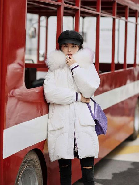 HOMYSU女装品牌2019秋冬轻薄加绒羽绒服