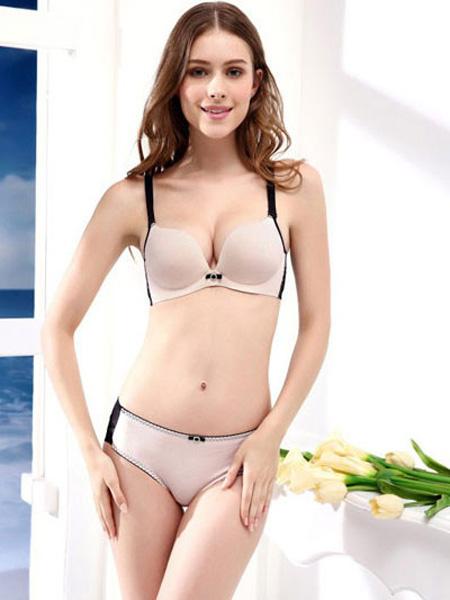 女人心内衣品牌2019收副乳胸罩薄款无痕文胸套装