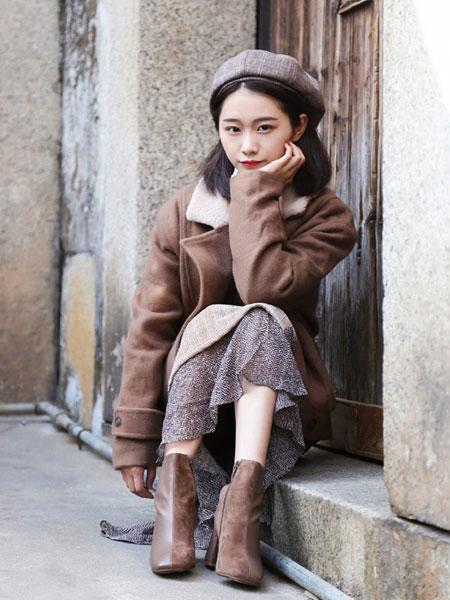 DJS.女装品牌2019秋冬复古气质外套