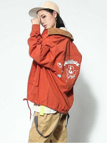 Lightning bear熊电男装品牌2019秋冬休闲加绒外套