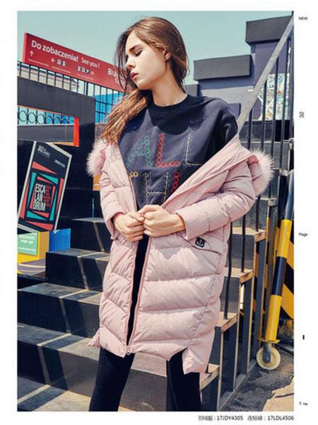 爱领领久ALLJ女装品牌2019秋冬轻薄羽绒服外套