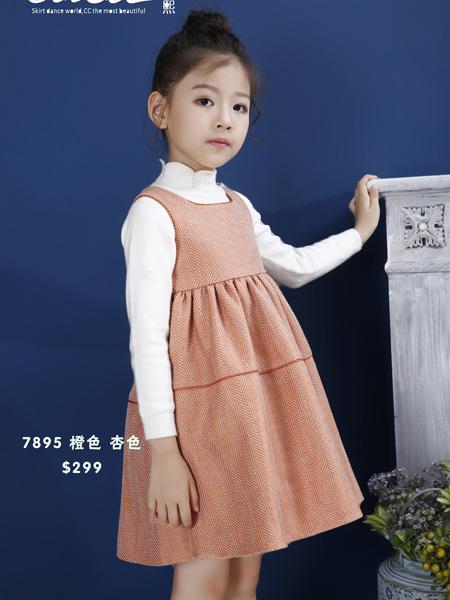 Ceicei熙熙童装品牌2019秋冬连衣裙马甲公主